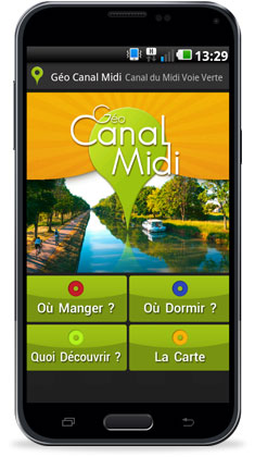 Géo Canal Midi - Application pour mobile Android